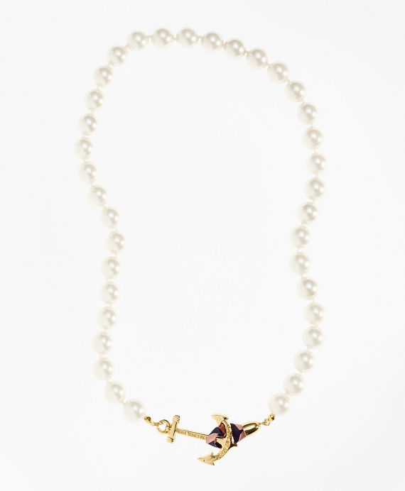 Kiel James Patrick Pearl Necklace White