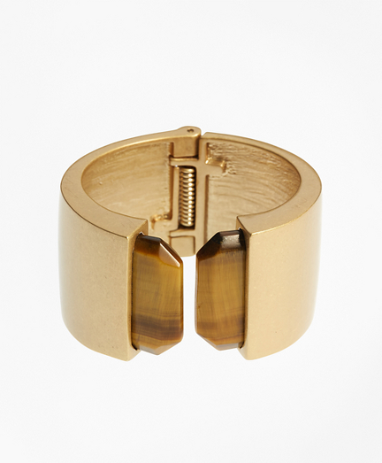 Hinged Tigereye Cuff