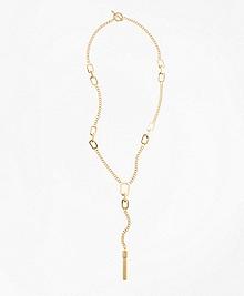 Long Geo Bar Pendant Necklace