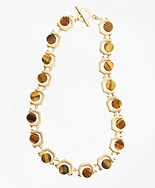 Tigereye Chain-Link Necklace