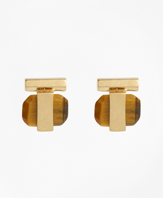 Square Tigereye Stud Earrings