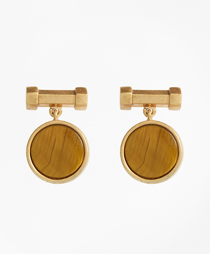 Round Tigereye Earrings