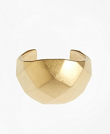 Gold Faceted Cuff