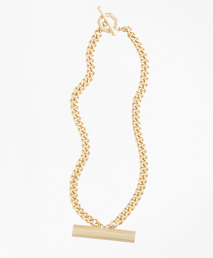 Pave Detail Bar Necklace