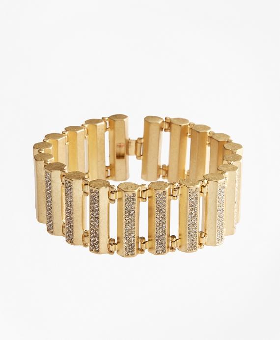 Pave Detail Bar Bracelet Gold