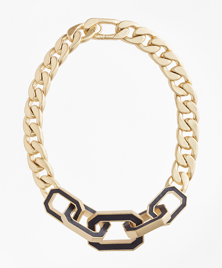Chain Leather Knot Necklace