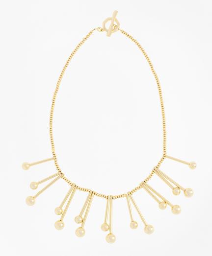 Ball-and-Bar Collar Necklace
