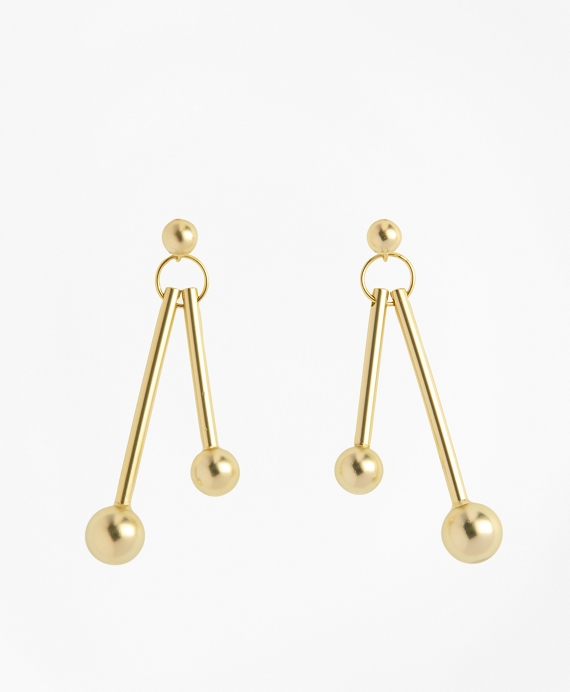 Ball-and-Bar Drop Earrings