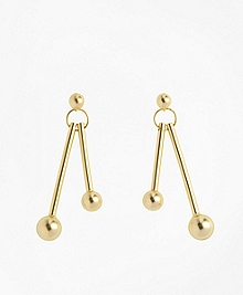Ball-and-Bar Drop Earrings