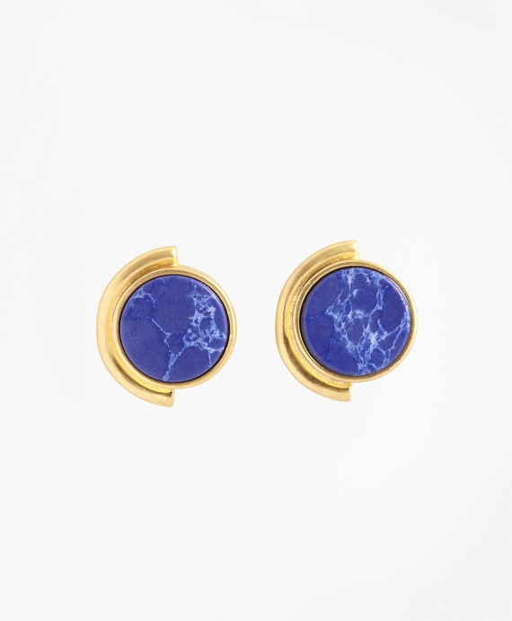 Gold-Plated Geometric Stud Earrings