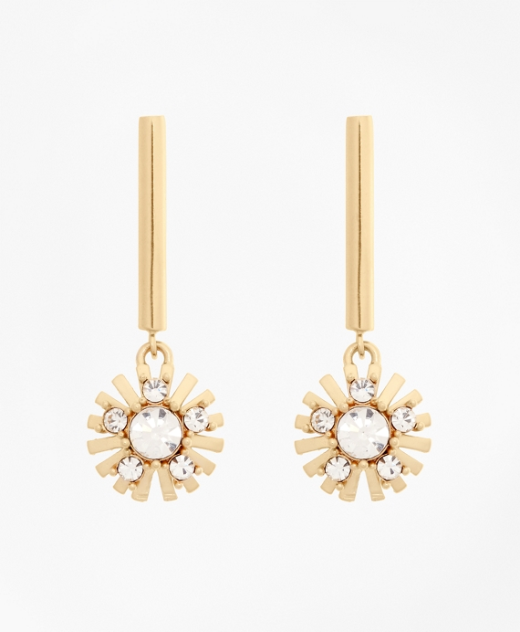 Crystal Starburst Earrings Gold