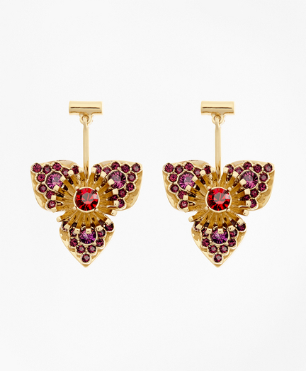 Swarovski Crystal Floral Drop Earrings