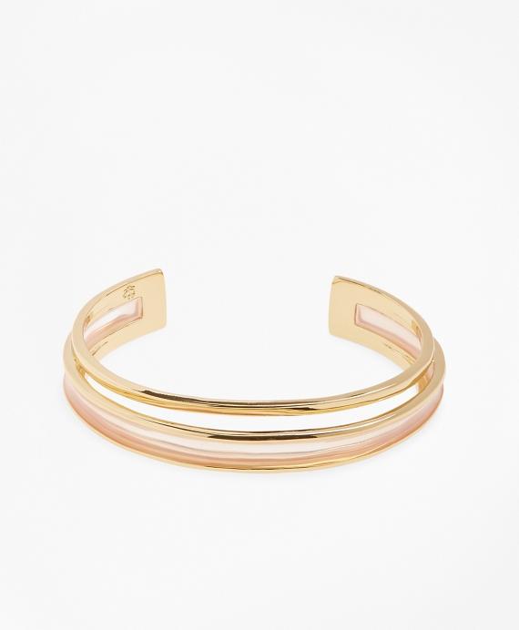 Plique-a-Jour Enamel Cuff Bracelet