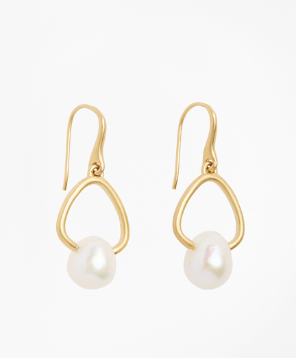 Freshwater Pearl Gold-Plated  Drop Earrings