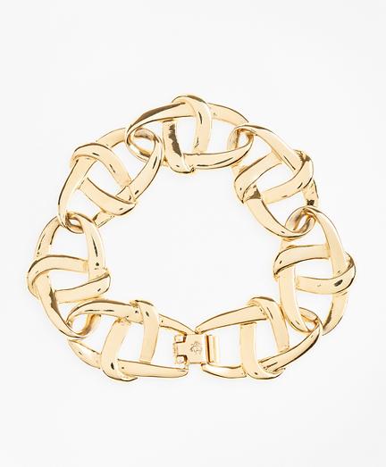 Gold-Plated Nautical Link Bracelet