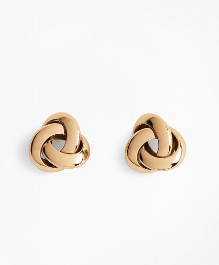 Gold-Plated Nautical Knot Earrings