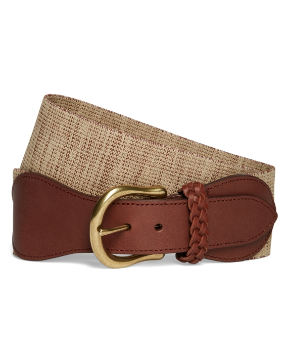 Linen Stretch Belt Khaki