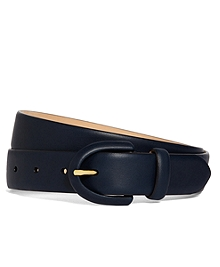 Calf Covered Buckle Belt