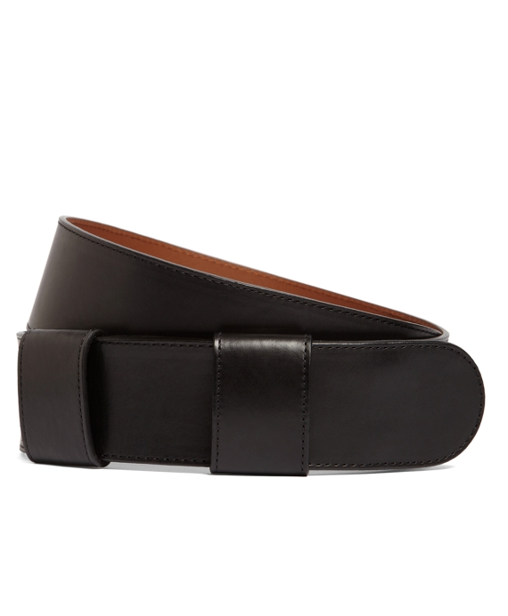 Calfskin Double Loop Belt Black