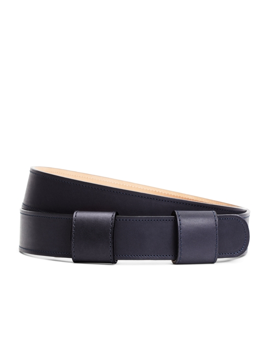 Calfskin Double Loop Belt Navy