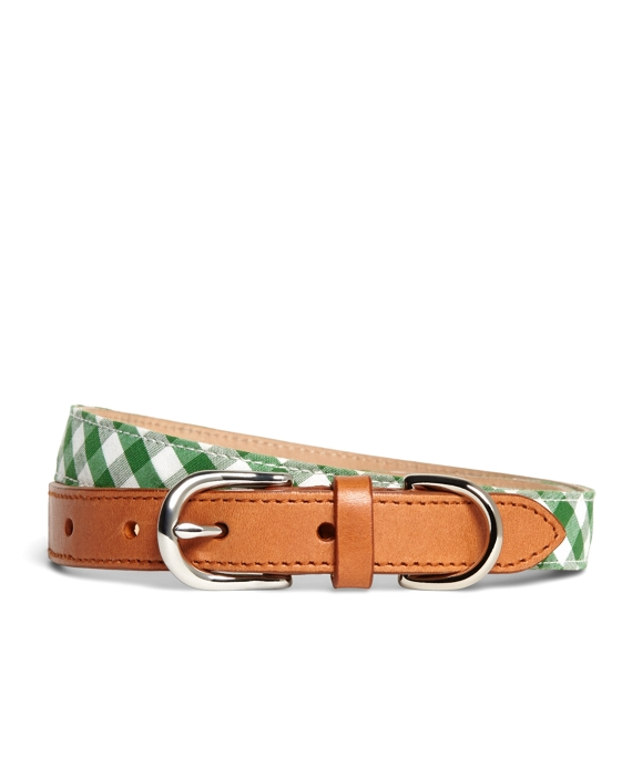 Gingham Belt Green-White