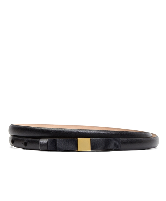 Calfskin with Grosgrain Bow Belt Black