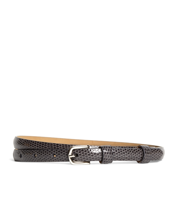 Lizard Thin Belt Taupe