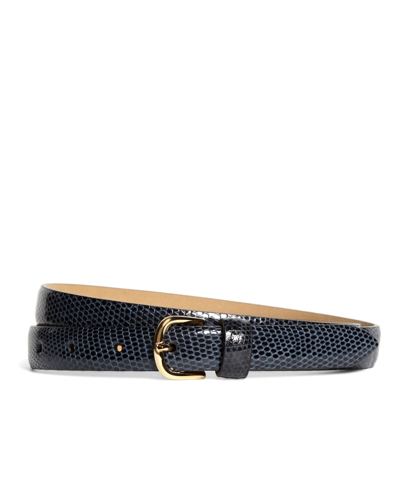 Lizard Wide Belt Navy
