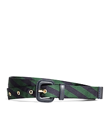 Silk Tie Stripe Belt