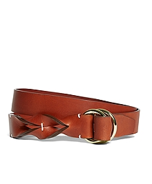 Leather Twisted Belt