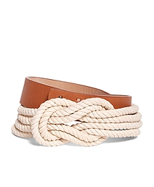 Leather and Rope Belt