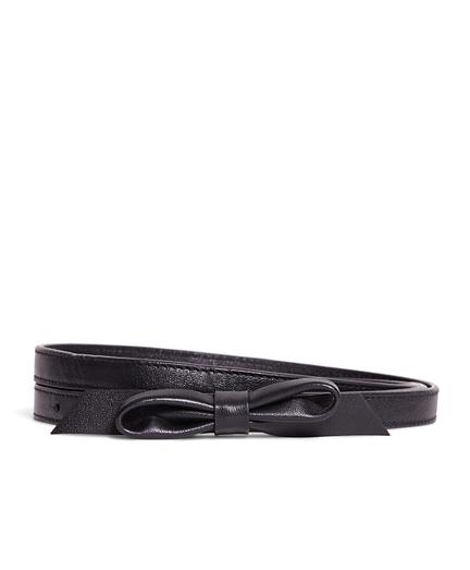 Leather Bow Belt