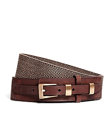 Cotton and Leather Stretch Belt