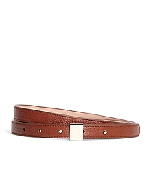 Pebble Calfskin Leather Belt