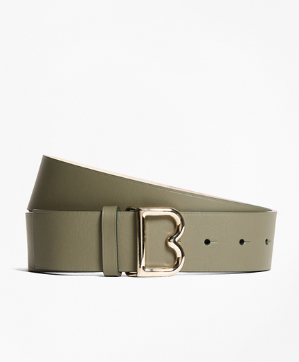"1½"" Wide Leather ""B"" Buckle Belt"