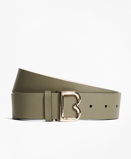 "1½"" Wide Leather ""B"" Buckle Belt"