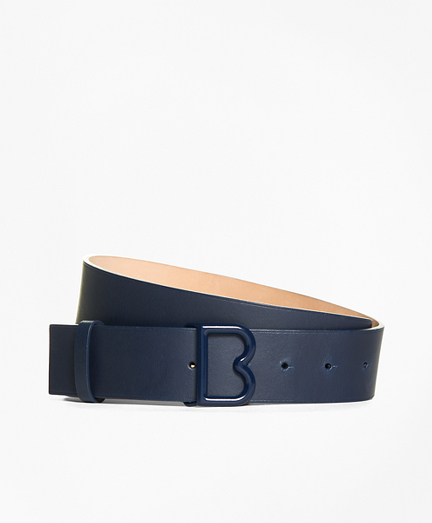 "1 ½"" Leather ""B"" Buckle Waist Belt"