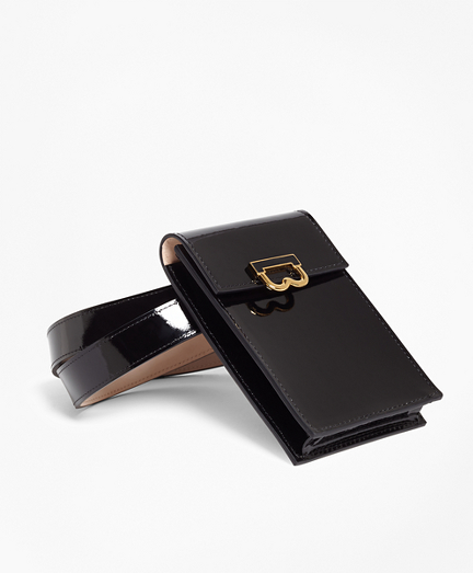 Patent Leather Pouch Belt