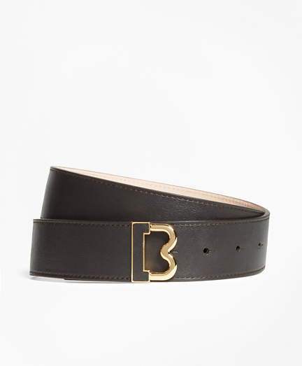 "Leather ""B"" Buckle Belt"