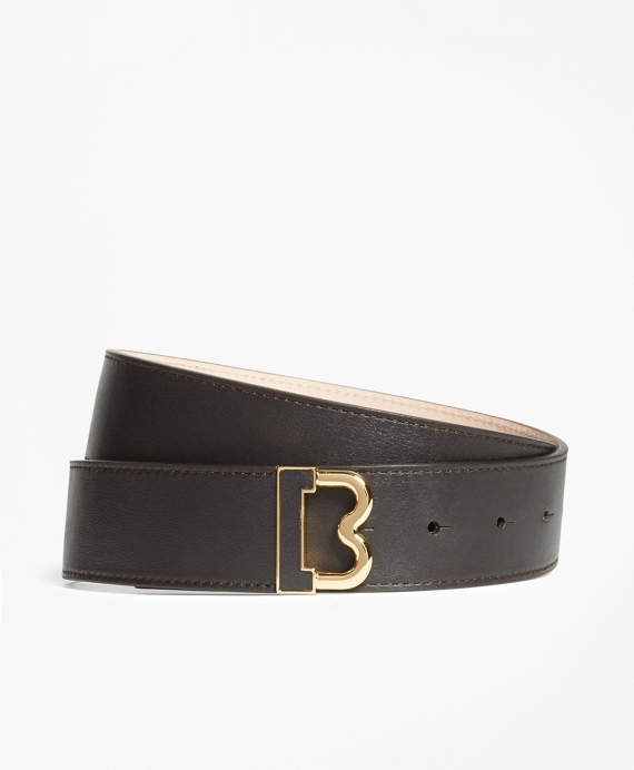 "Leather ""B"" Buckle Belt"