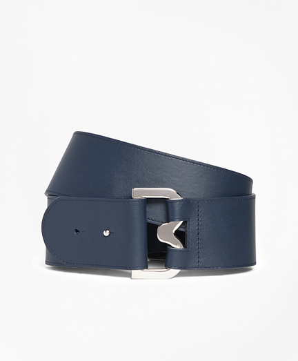 "2"" Wide Leather ""B"" Buckle Belt"