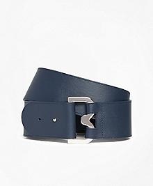 "2"" Wide Leather ""B"" Buckle Belt"