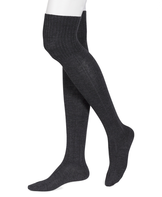 Ribbed Thigh Highs Grey