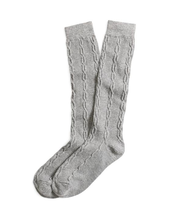 Cashmere Blend Socks Grey
