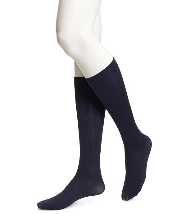 Herringbone Trouser Socks Navy