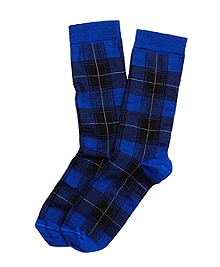 Plaid Crew Socks