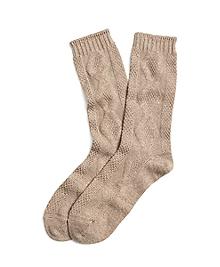 Cashmere Blend Crew Socks
