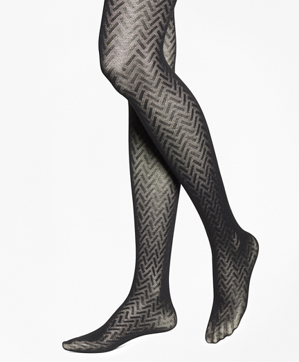 Basketweave Cotton Tights