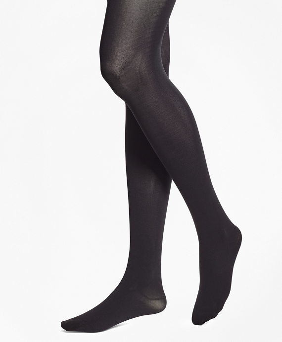 Opaque Nylon Tights Black