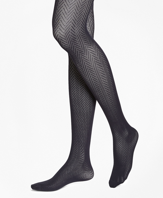 Herringbone Tights Black